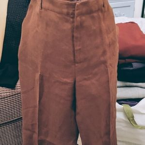 Lauren Ralph Lauren Pants & Jumpsuits - Tobacco Brown Linen Pants